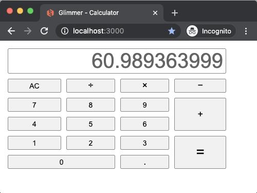 Glimmer Calculator Opal