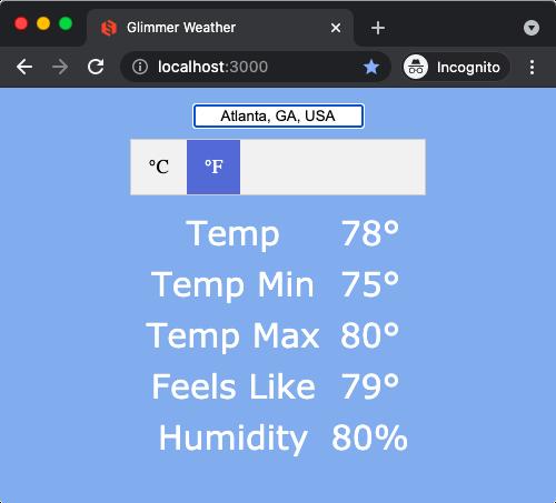 Opal Weather Atlanta F
