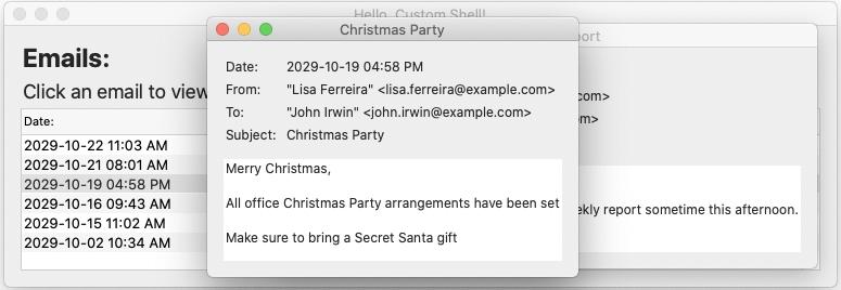 Glimmer DSL for SWT Hello Custom Shell Email2