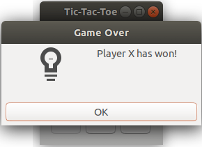Glimmer DSL for SWT Tic Tac Toe Game Over