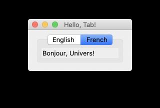 glimmer dsl tk screenshot sample hello notebook French