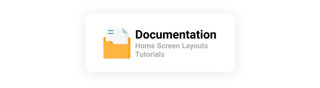 Documentation of home screen