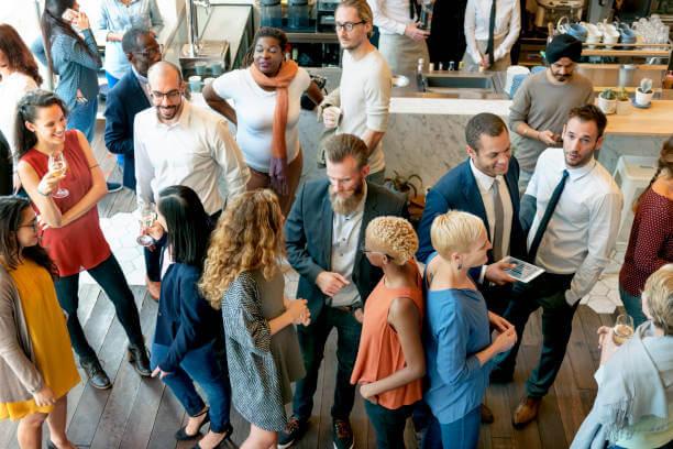 Social gathering scene