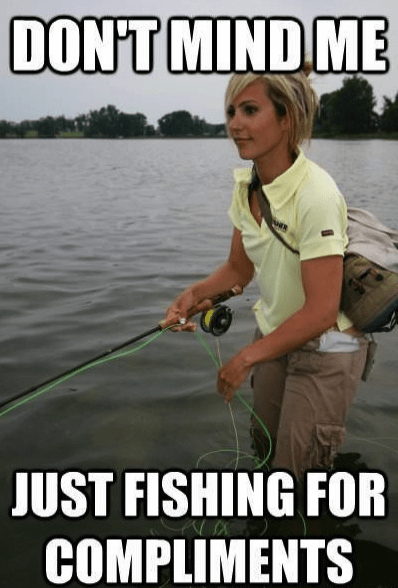 Compliments fishing meme