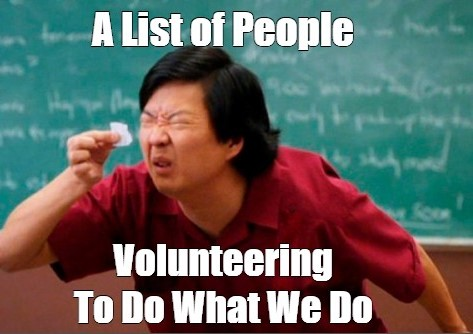 Volunteering meme