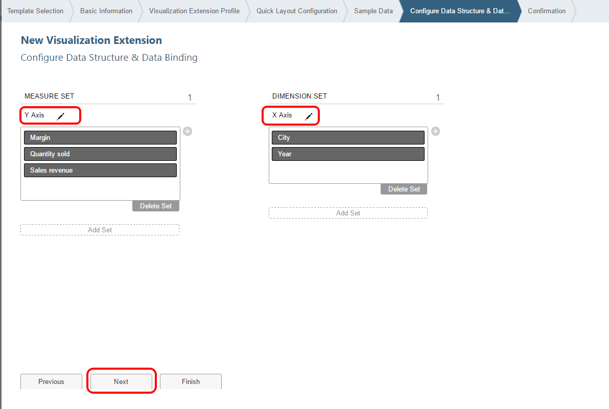 SAP Web IDE Lumira extension rename sets