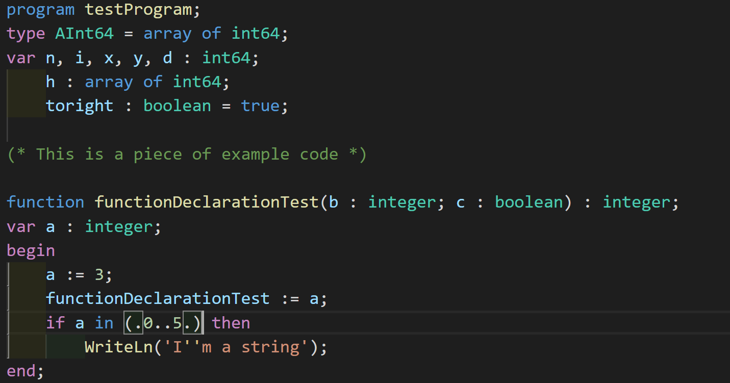A example program