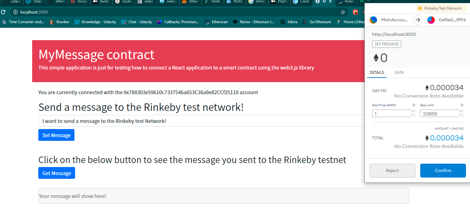 How to connect a React Application to a smart contract deployed to the Rinkeby TestNetwork - 如何将React应用程序连接到部署到Rinkeby TestNetwork的智能合约