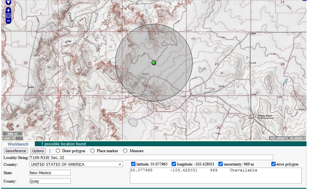How To Convert Township/Range/Section data to Latitude