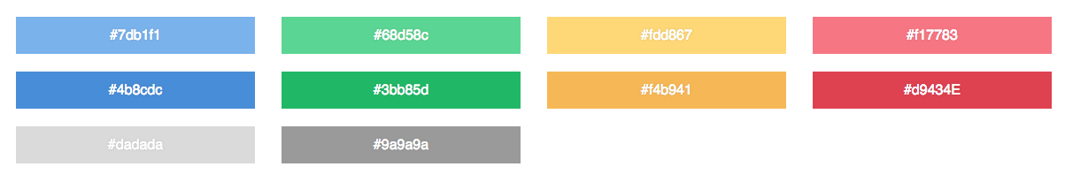 CSS mint swatches