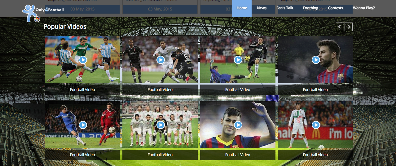 Bootstrap Football Theme Screenshot 4