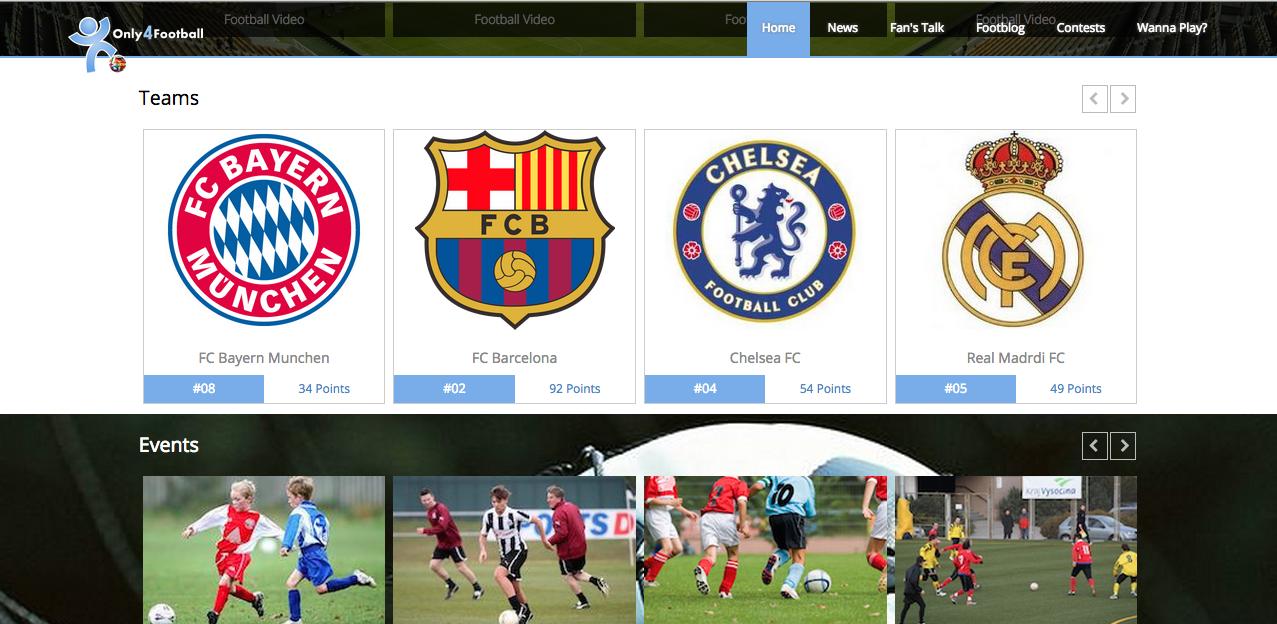 Bootstrap Football Theme Screenshot 5