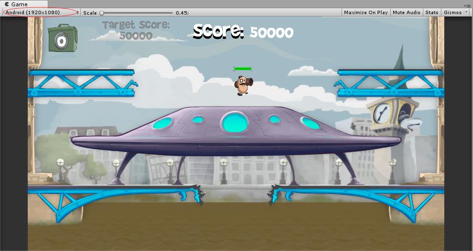 添加提示UI之后的游戏场景