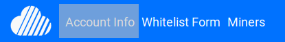 Menu bar Skywire Whitelisting System