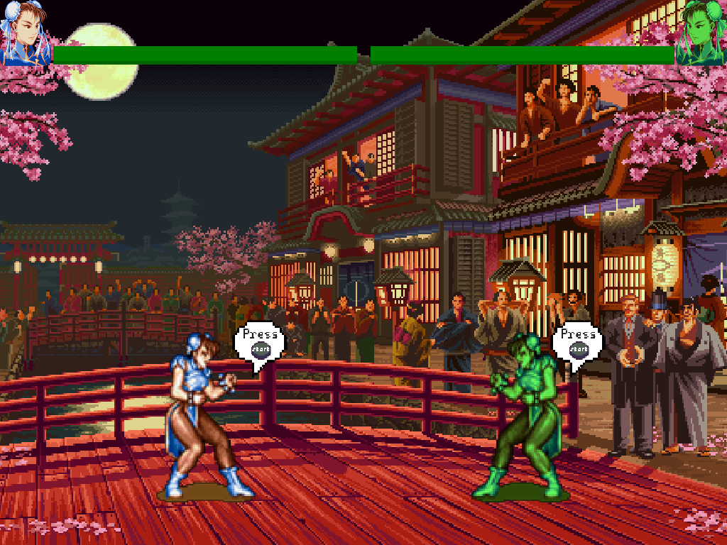 Opening screen of my Street Fighter clone.