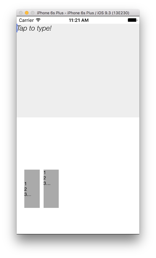 EditableText Example App Screenshot