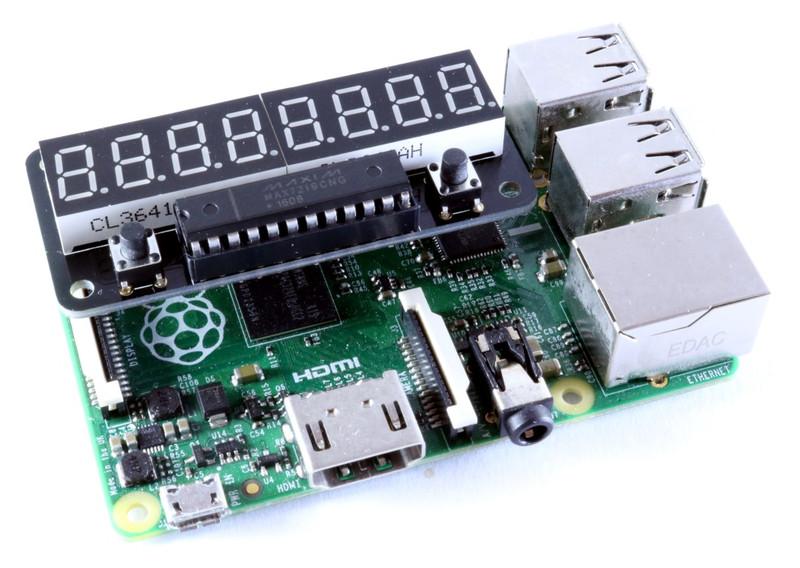 ZeroSeg on a Raspberry Pi B+