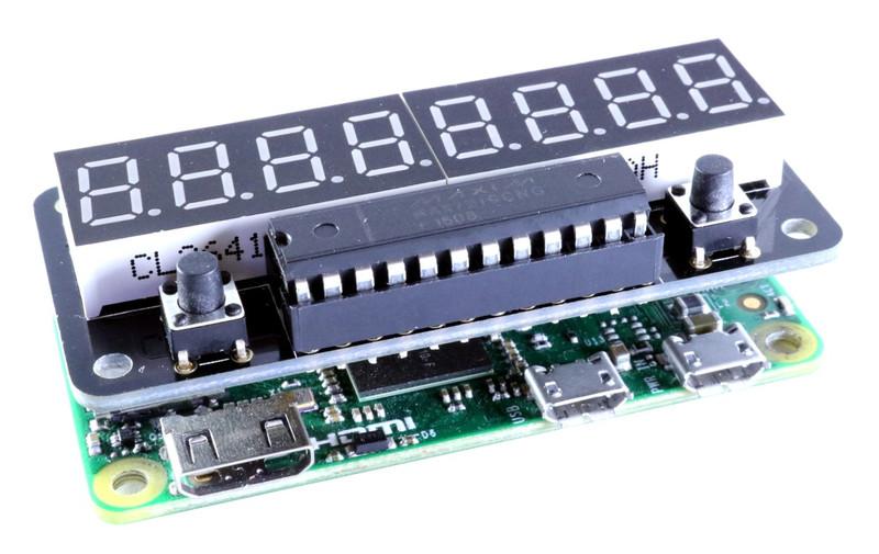 ZeroSeg on a Raspberry Pi Zero