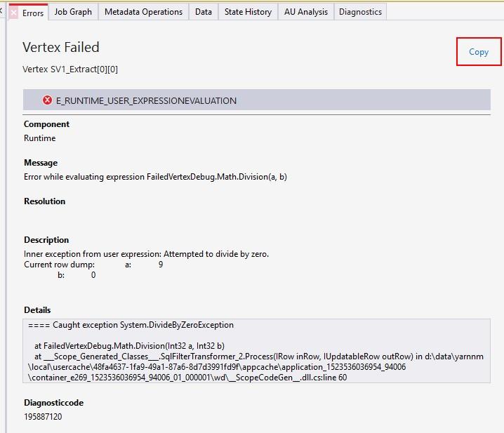 VS Tool - Runtime Error Message