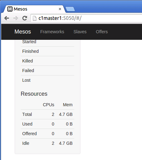 Image of Mesos cluster on azure