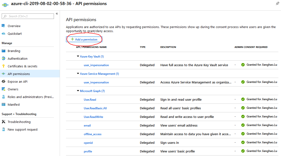 device code permissions