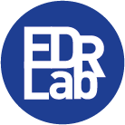 The European Digital Reading Lab logo, a blue circle with EDRLab in the middle (external link)