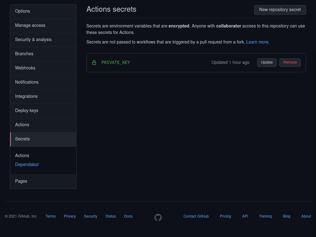 Github-actions-secrets
