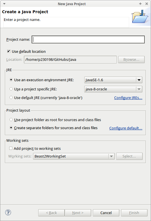 Create a Java Project