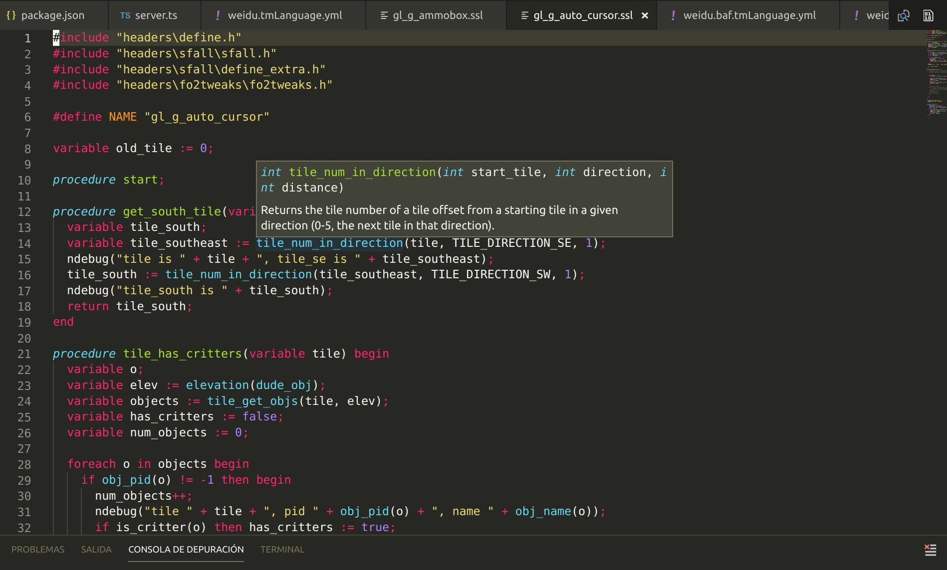 fallout highlighting and hover example