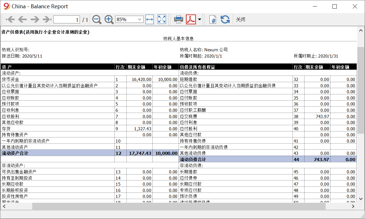 Company double vat banlance sheet image