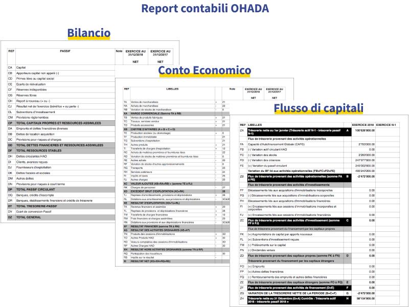 report contabili ohada
