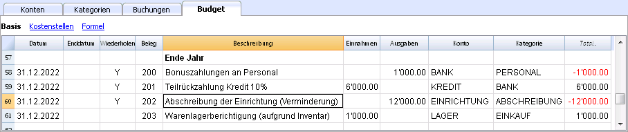 Finanzplan Start-Up | Banana Accounting Software
