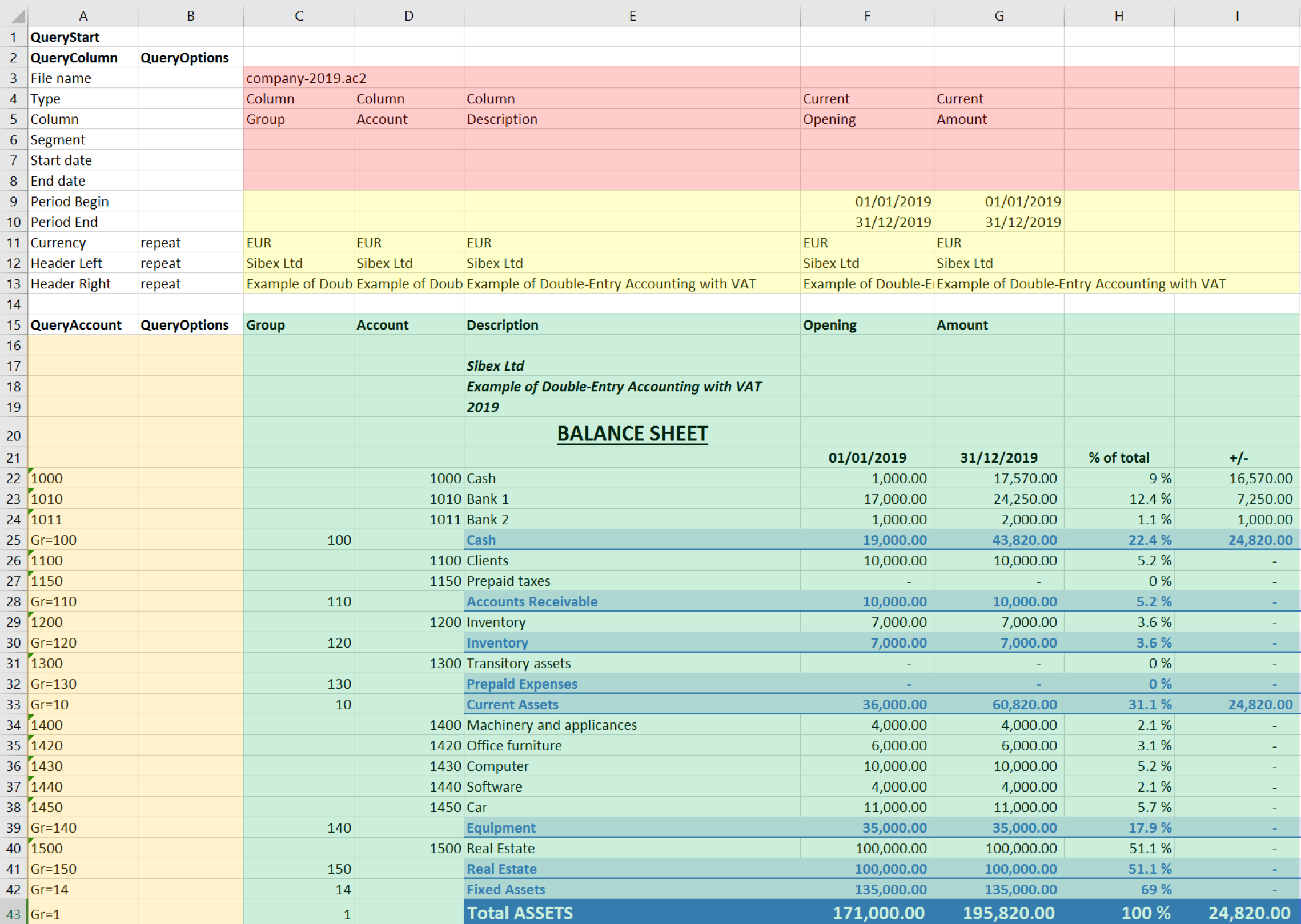 Documentation Excel Add-in | Banana Accounting Software