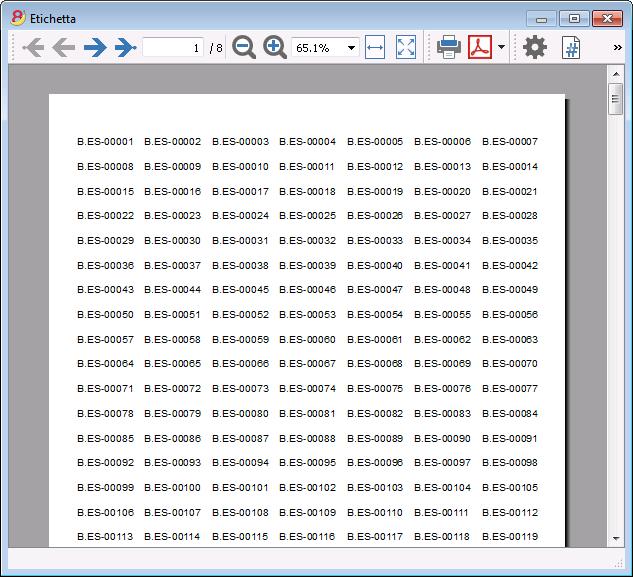 Popolare Stampare etichette biblioteca | Banana Accounting Software BA47
