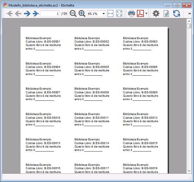 Estremamente Stampare etichette biblioteca | Banana Accounting Software KU94