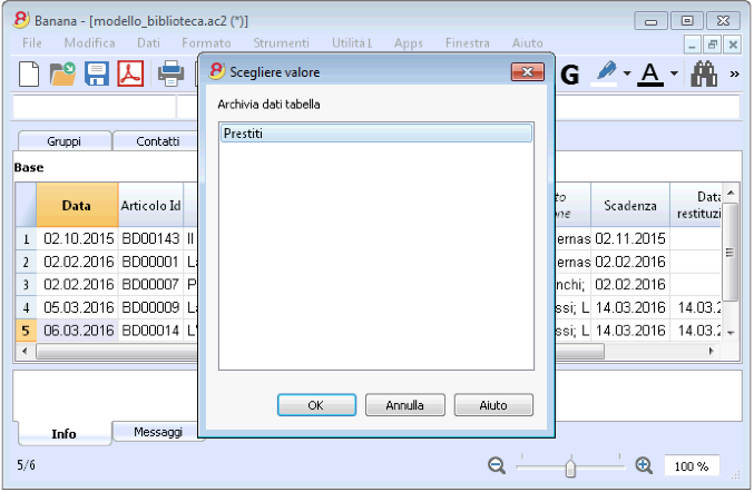 Favorito Biblioteche | Banana Accounting Software MM94