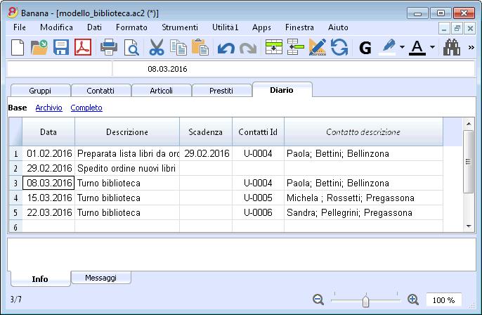Favorito Biblioteche | Banana Accounting Software YB42