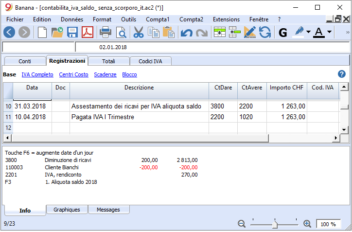 assestamento ricavi IVA a saldo senza scorporo