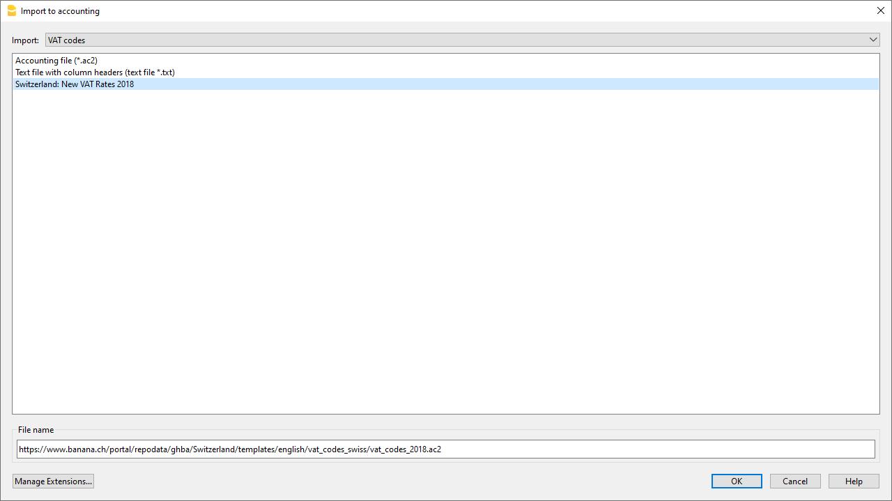 MwSt-Code importieren
