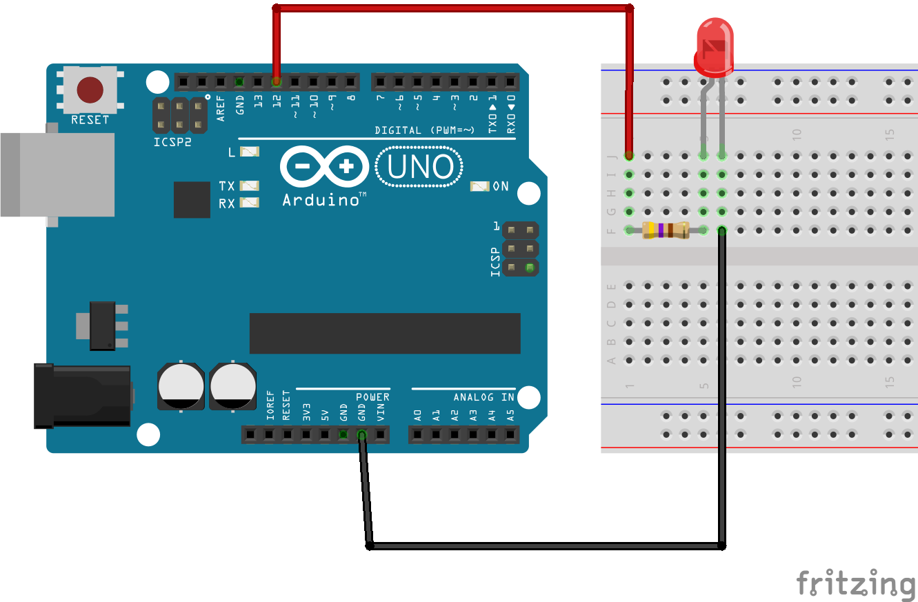 Tutorial 2 Blinking Led On Breadboard Is A Simple Flashing Circuit Operating The Arduino Schakelschema