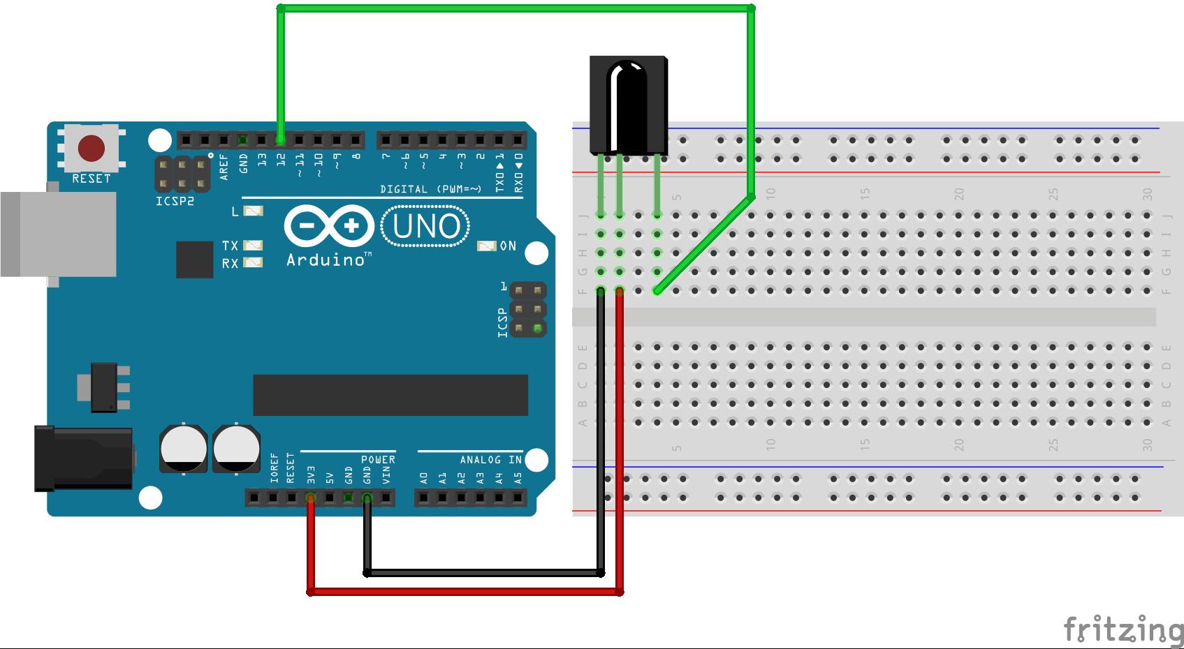 #9 Control Arduino with remote schakelschema