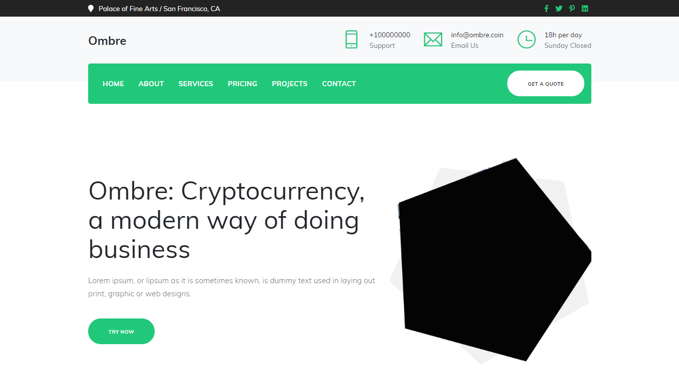 Ombre cryptonote currency website