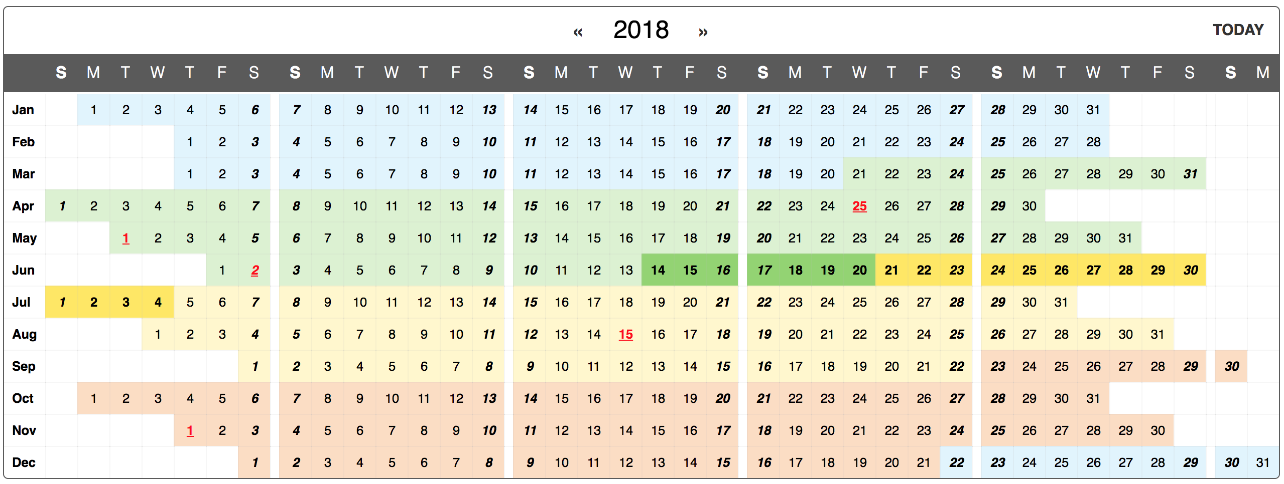 react-yearly-calendar