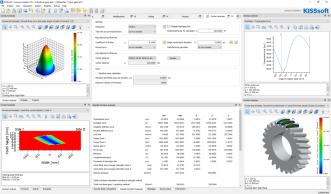 Example KISSsoft Contact Analysis Screenshot