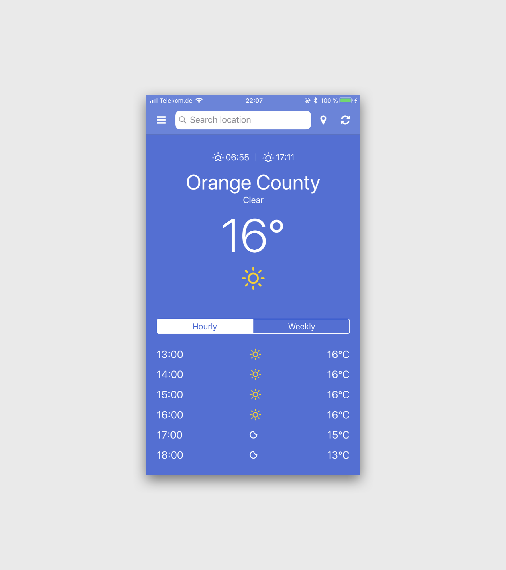 NativeScript Weather App