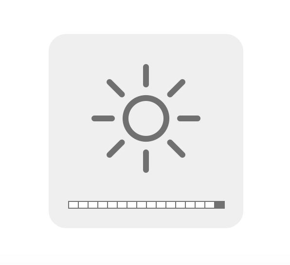 native brightness UI