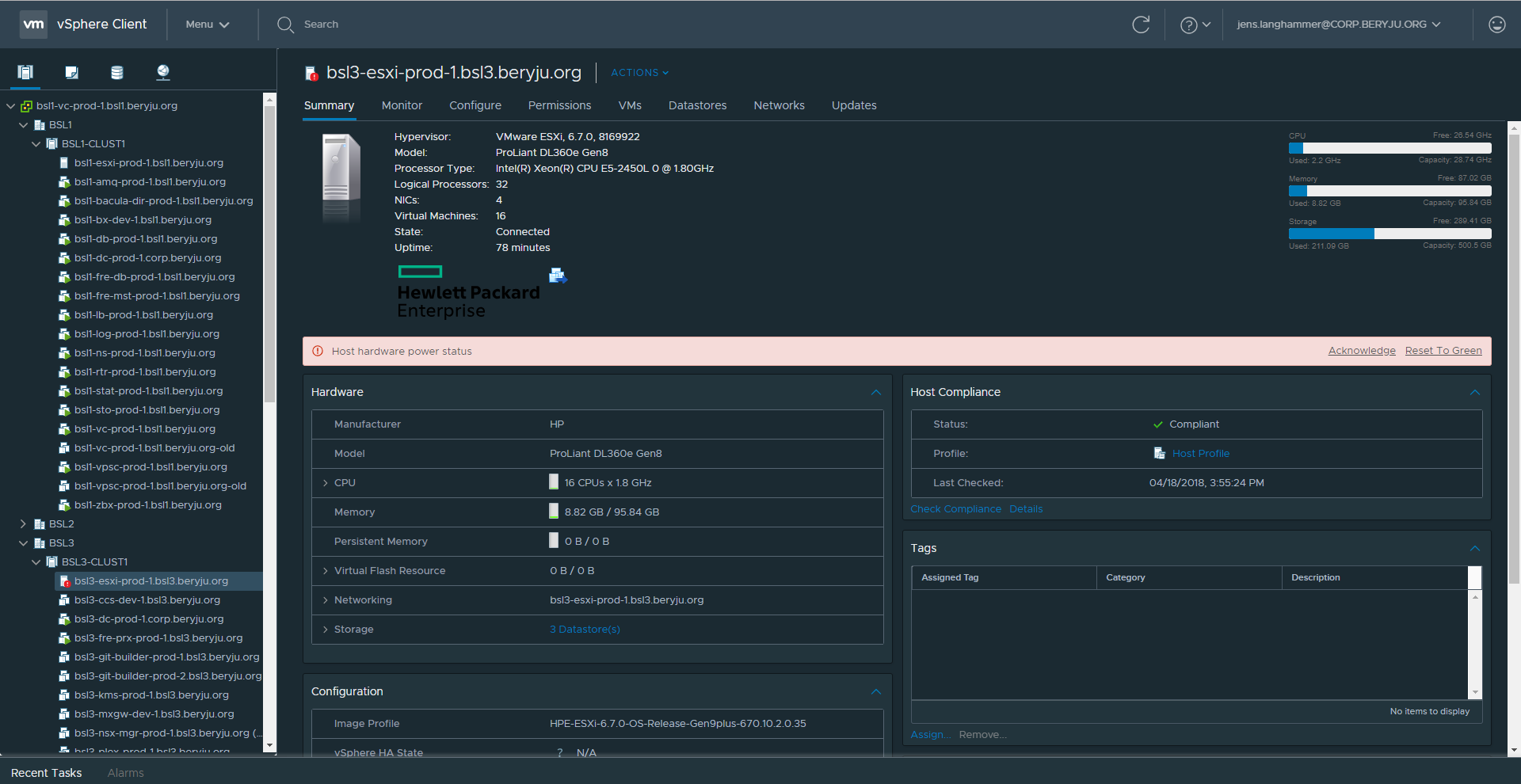 Dark Theme for vCenter's HTML5 Client : sysadmin