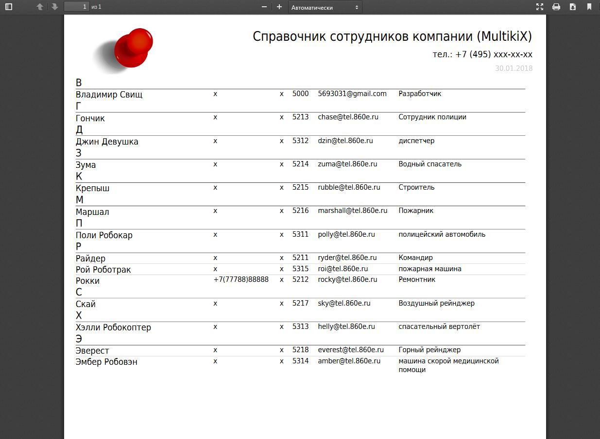 PDF по алфавиту