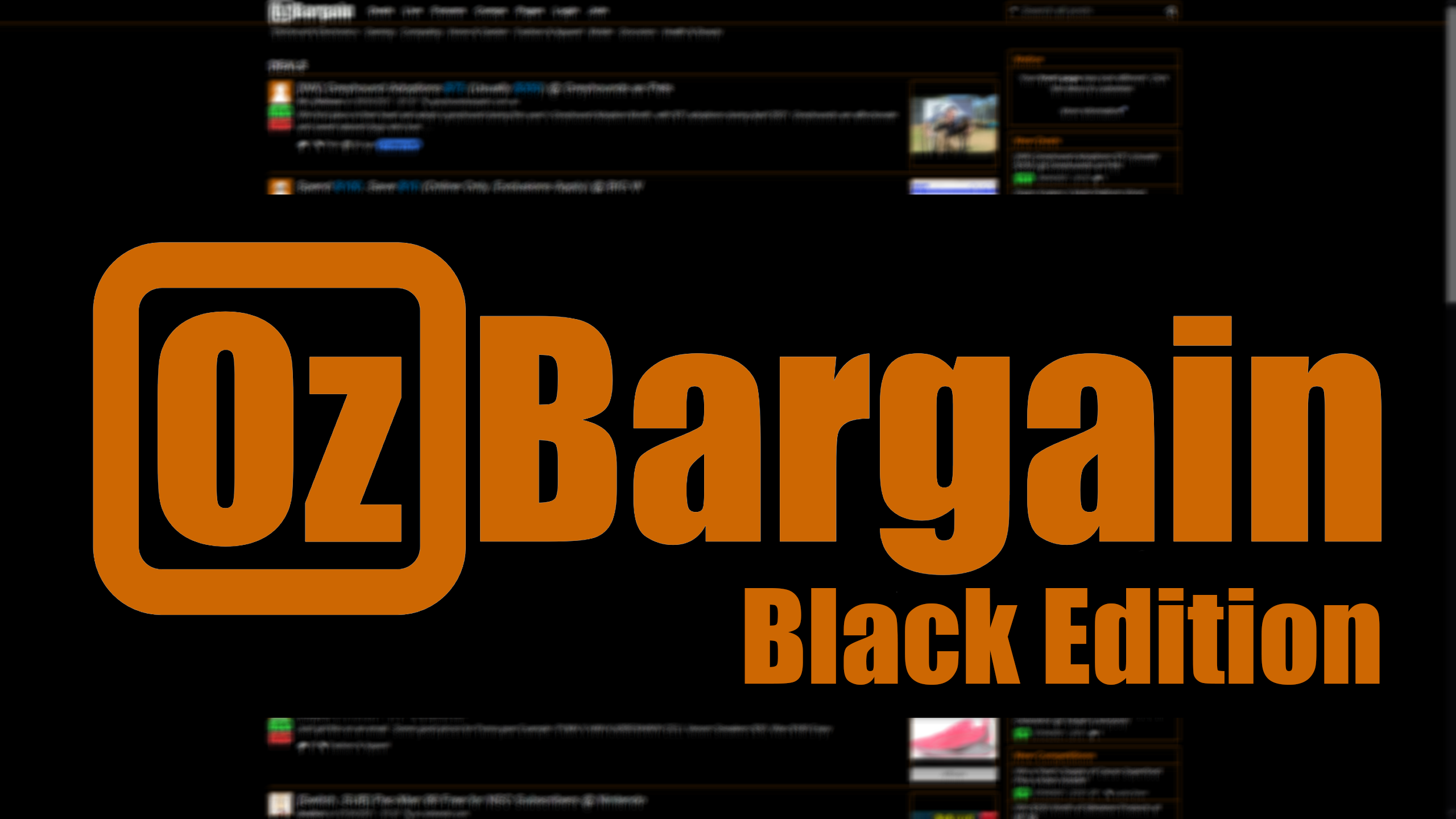OzBargain Black Edition screenshot