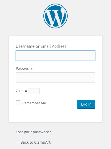 Sample Login Page